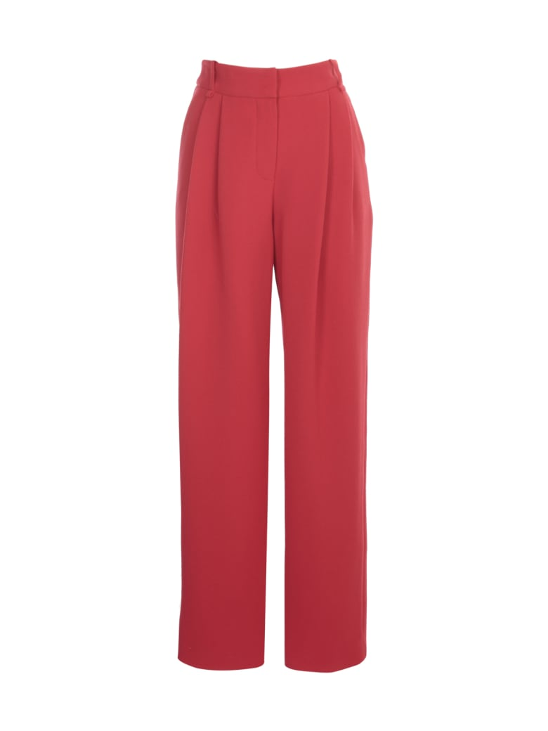Emporio Armani Pants W/one Pences - Rosso