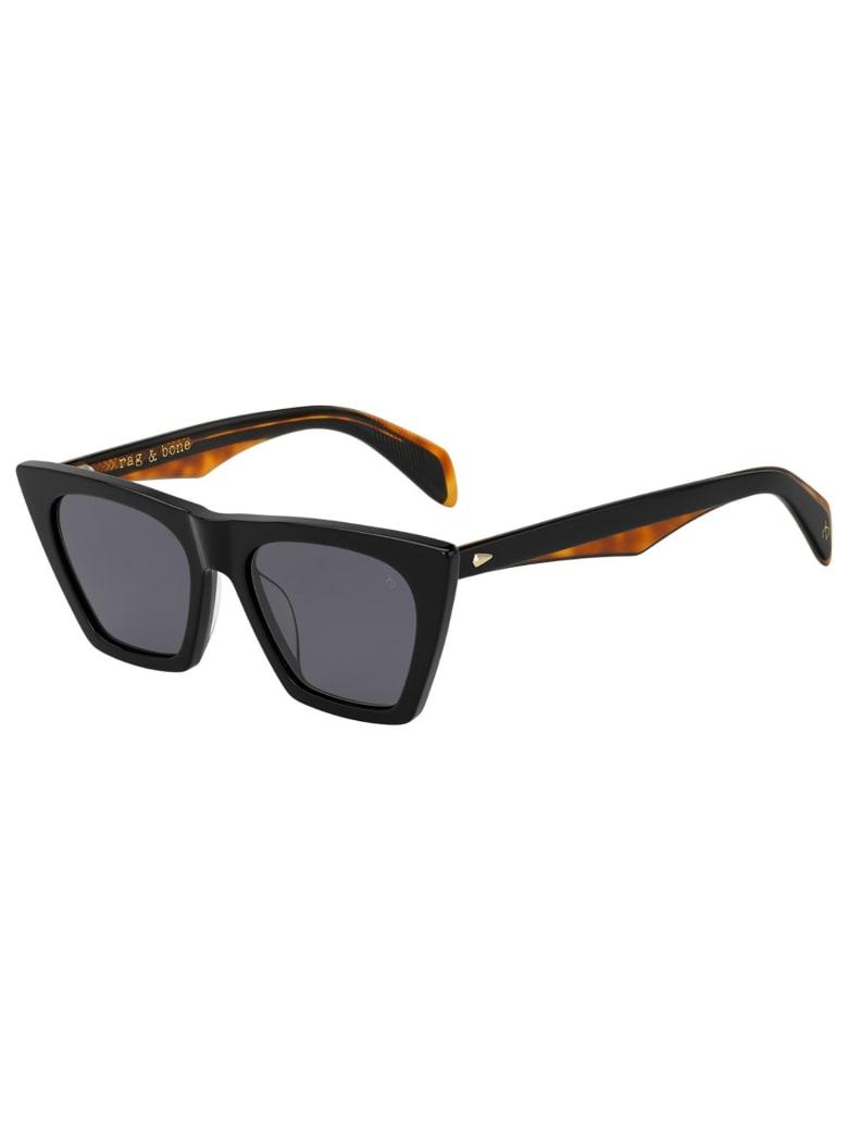 Rag & Bone RNB1025/S Sunglasses - /ir Black