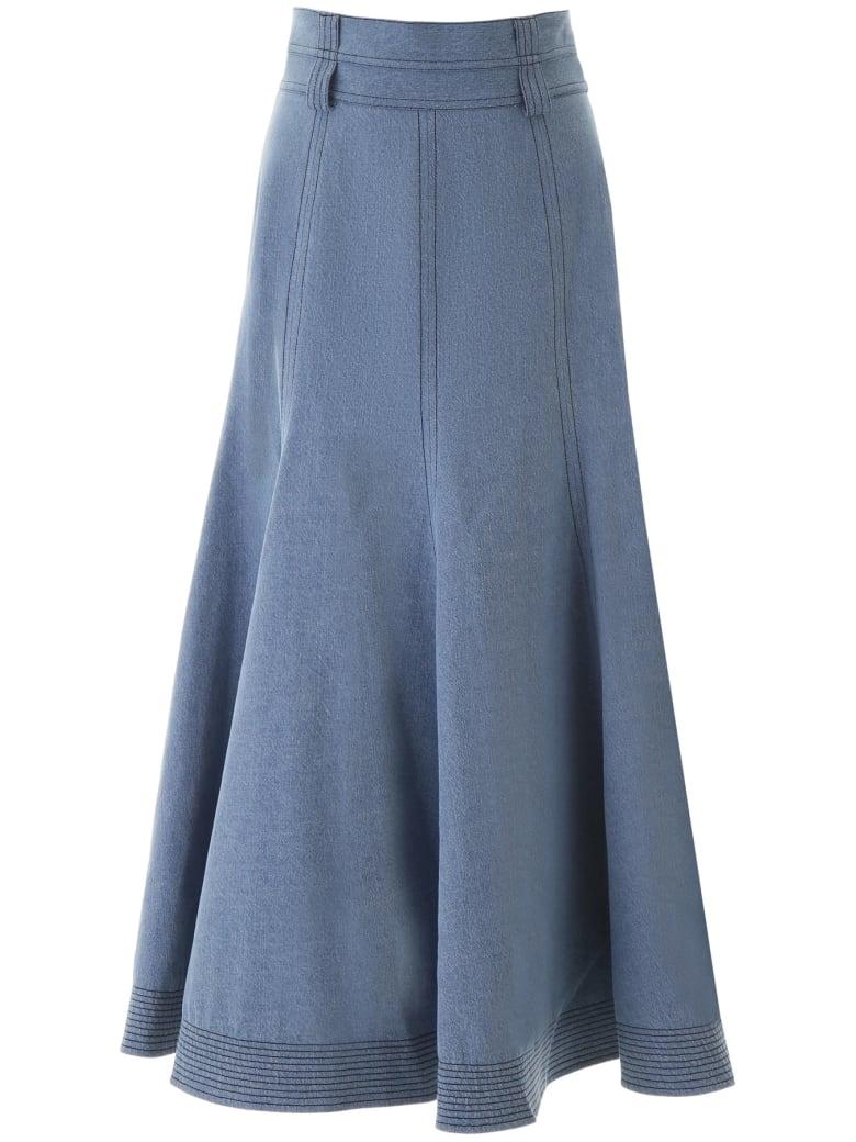 Gabriela Hearst Wytte Skirt - DENIM (Blue)