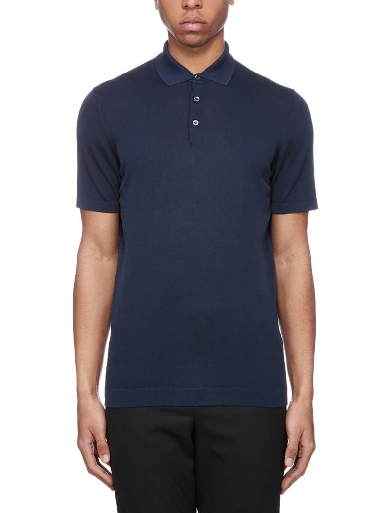 Drumohr Classic Polo Shirt - Blu scuro