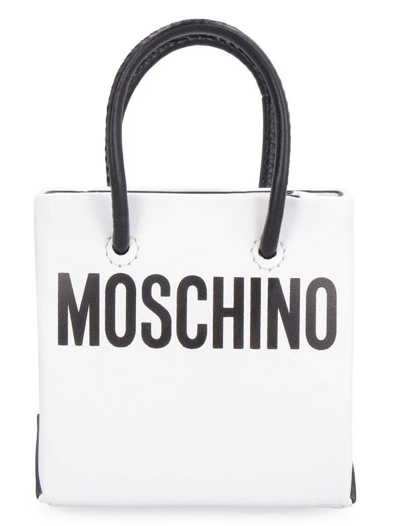 Moschino Leather Mini Bag - White