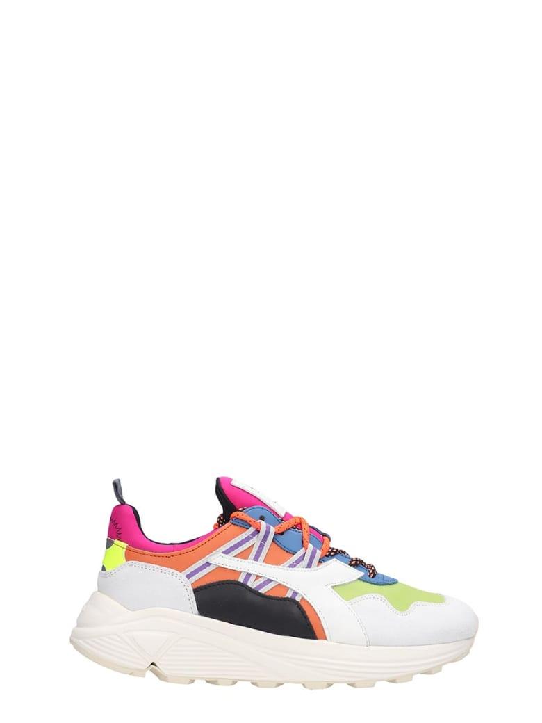 Diadora Rave  Sneakers In Multicolor Leather And Fabric - multicolor