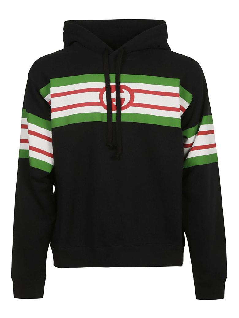 Gucci Hooded Sweatshirt - Black/Multicolor