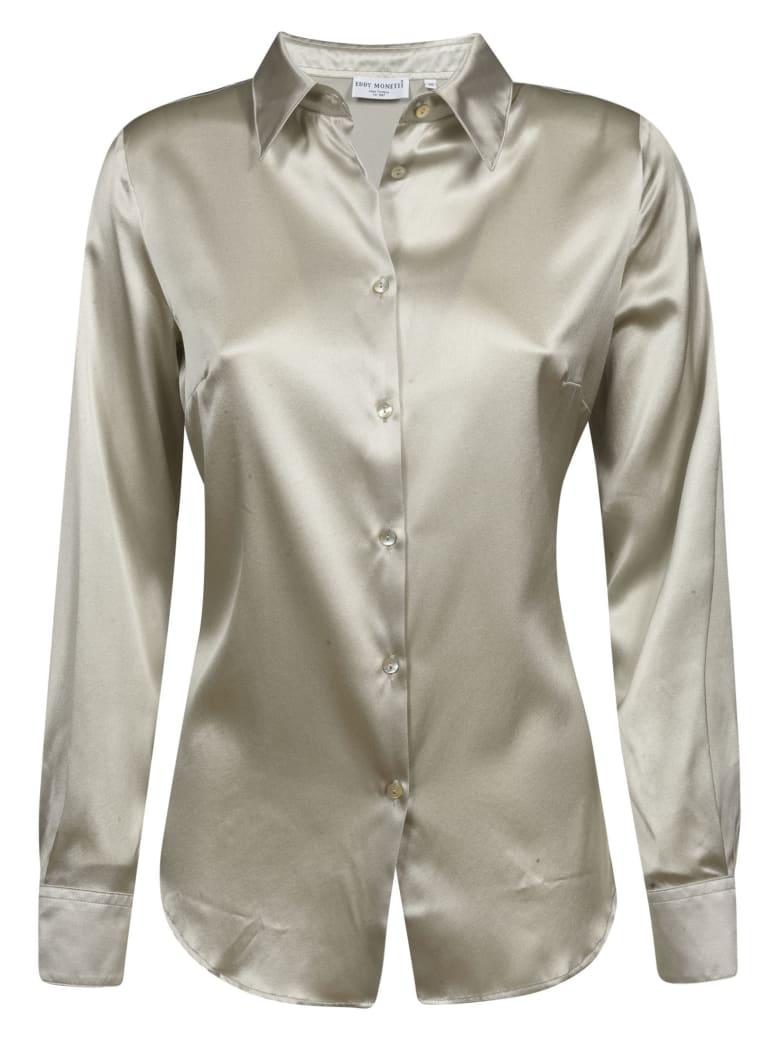 Eddy Monetti Plain Silk Shirt - Pearl Grey