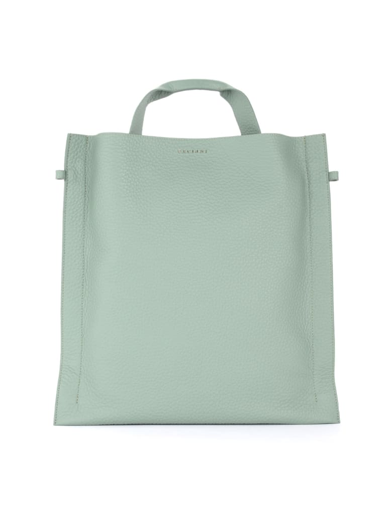 Orciani Bag In Sage Textured Leather - VERDE