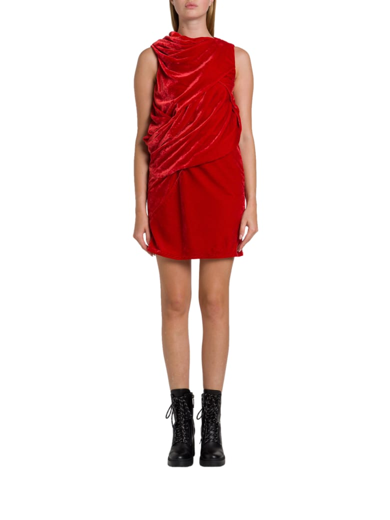 Rick Owens Knot Tunic Dress - Rosso