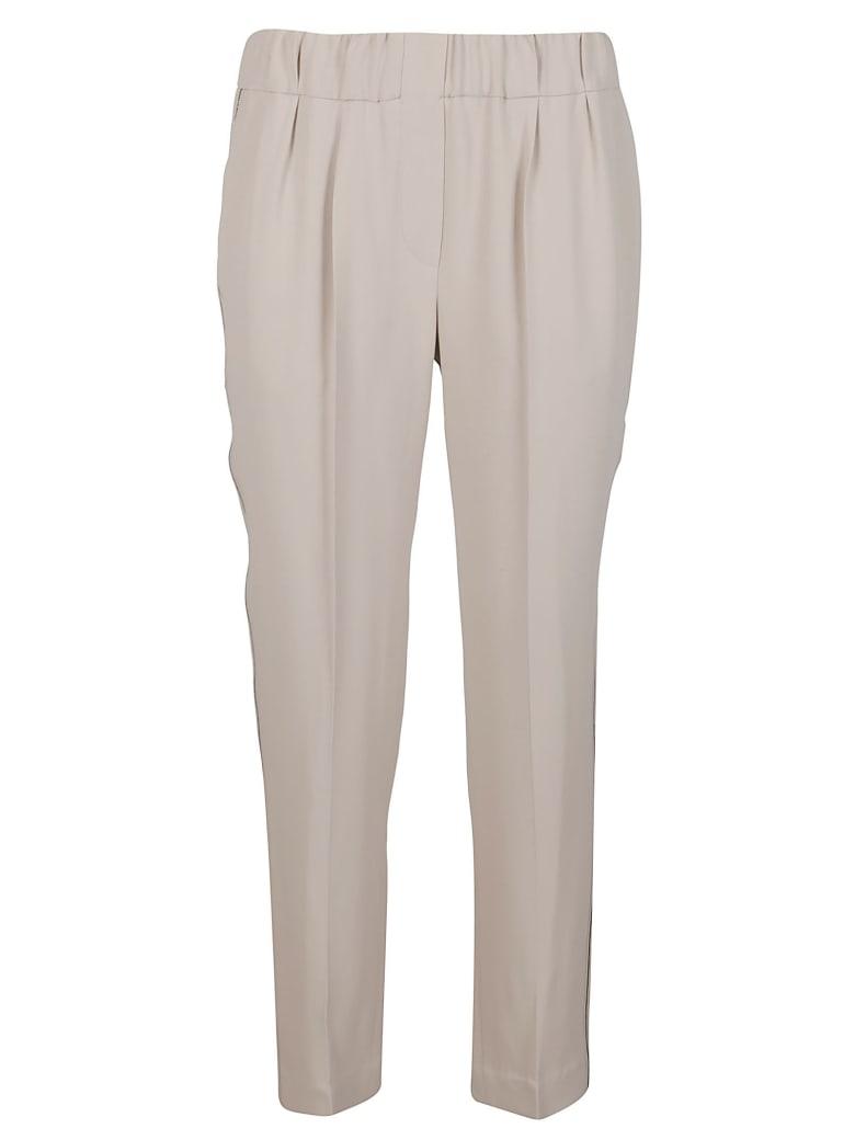 Brunello Cucinelli Beige Silk-blend Trousers - Beige