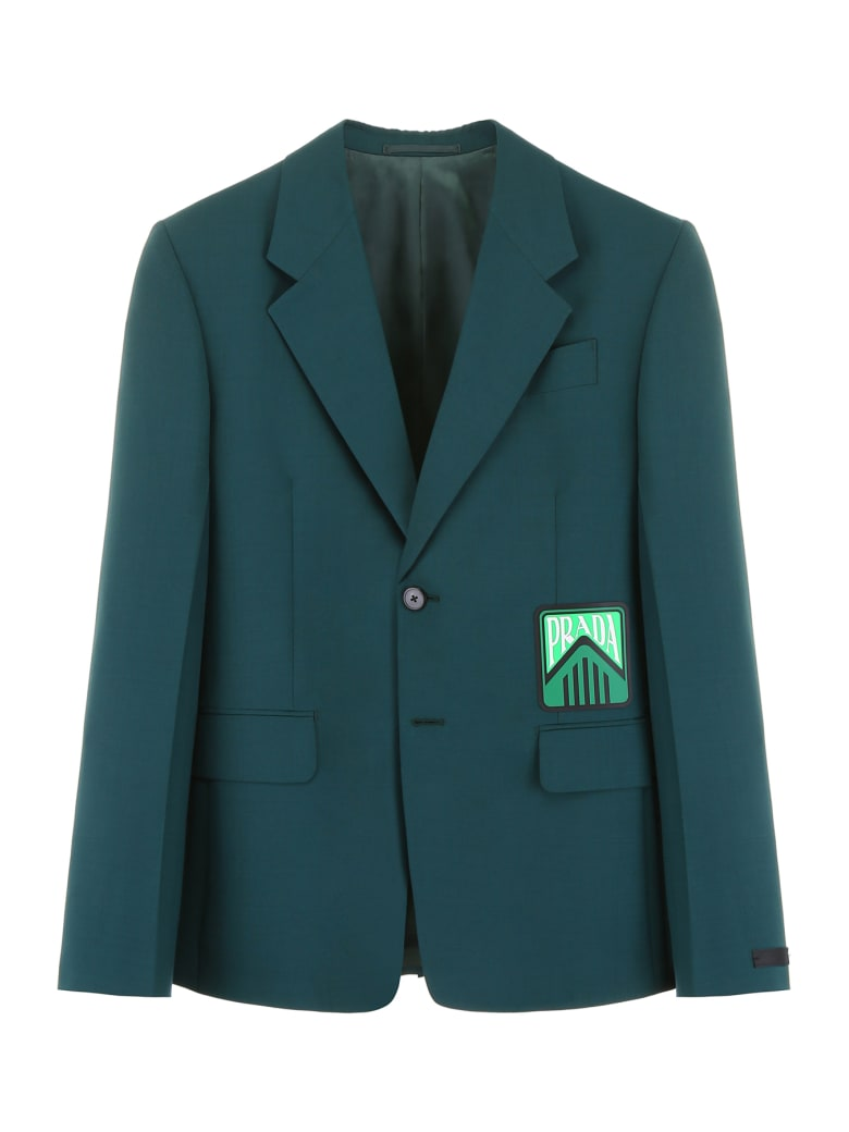 Prada Mohair And Wool Jacket - BOTTIGLIA (Green)