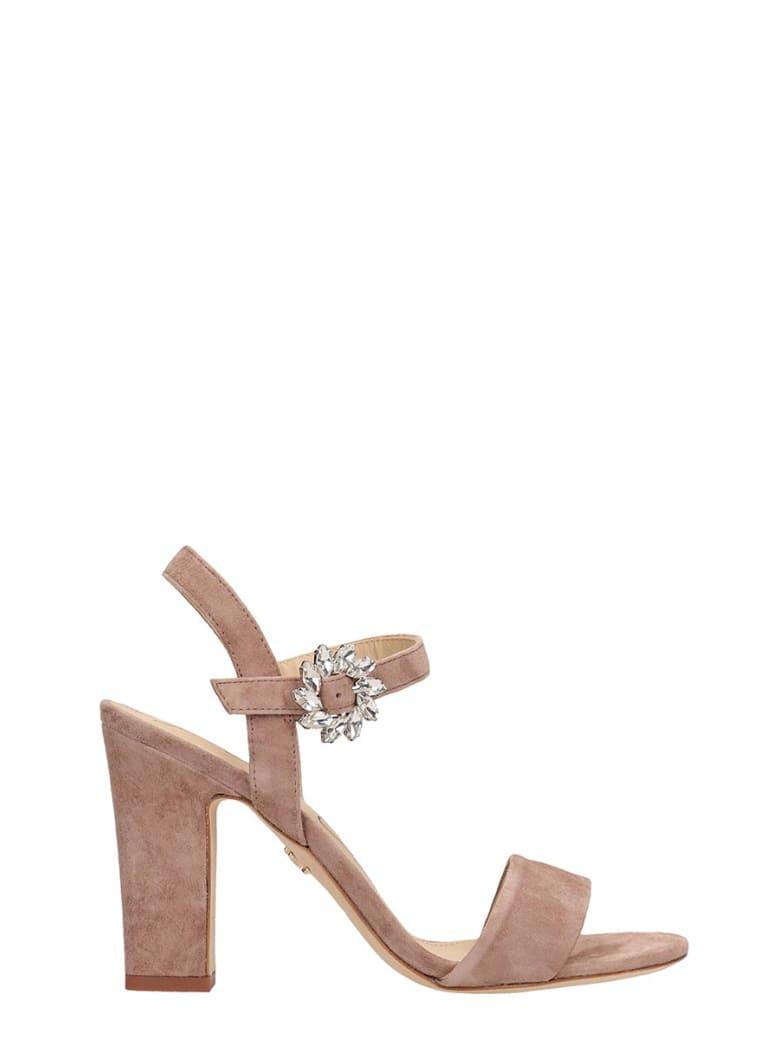 Lola Cruz Taupe Suede Sandals - taupe