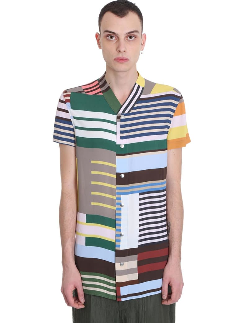 Rick Owens Golf Shirt  Shirt In Multicolor Viscose - multicolor