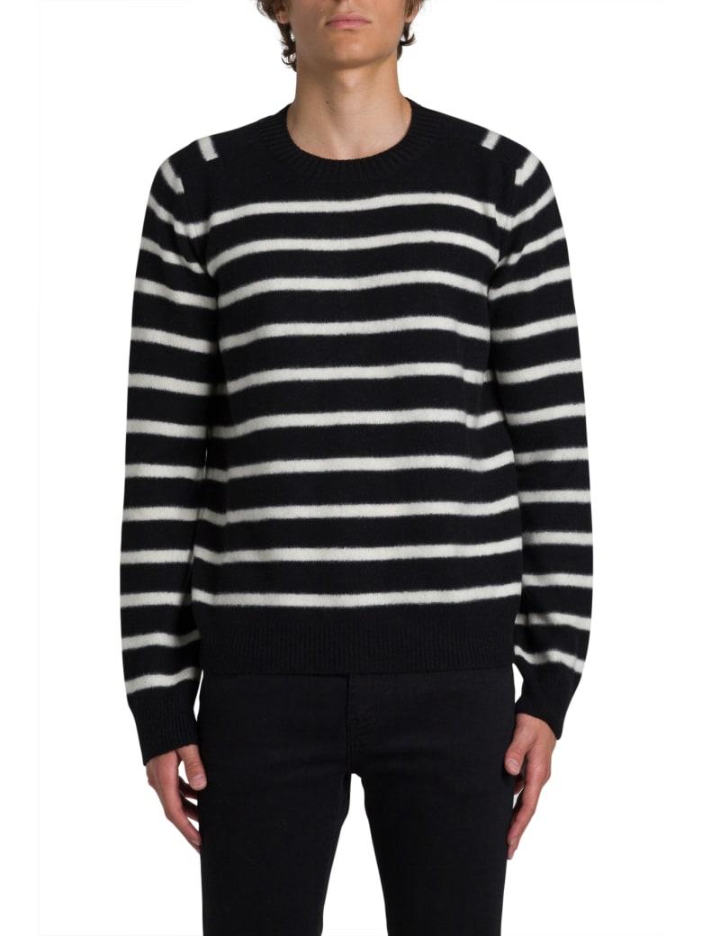 Saint Laurent Striped Sweater - Nero