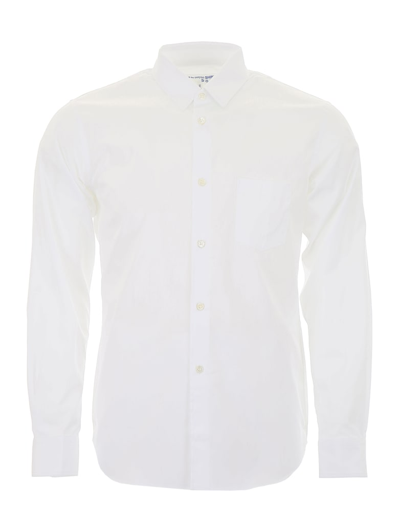 Comme des Garçons Shirt Boy Shirt With Logo On The Back - WHITE (White)