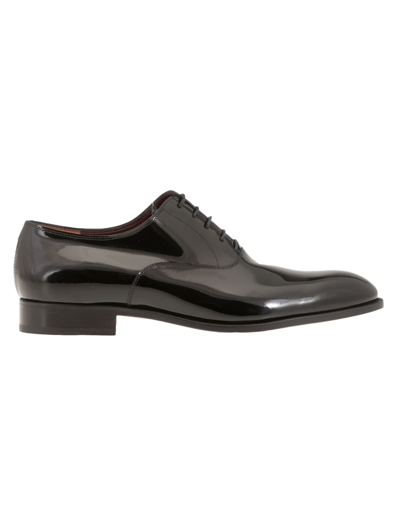 Fratelli Rossetti Patent Leather Lace Up Shoe - Black
