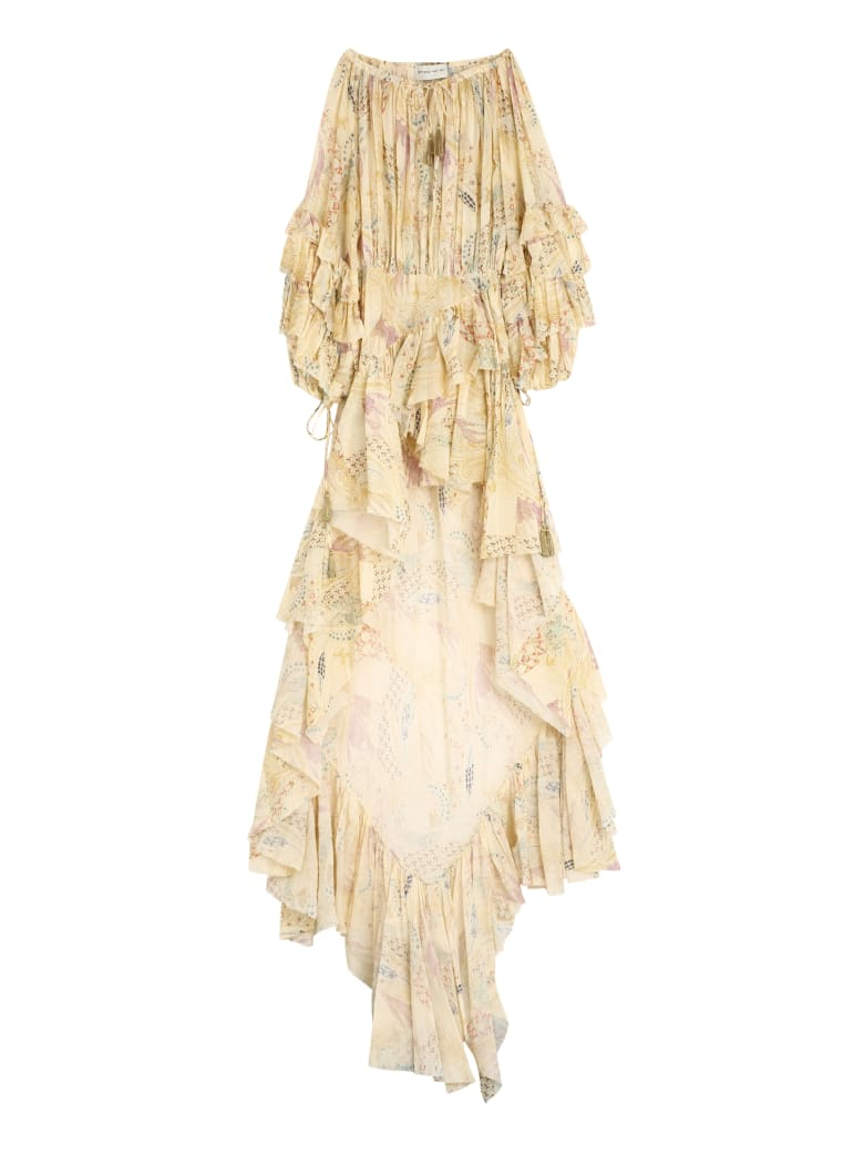 Etro Cotton Printed Long Dress - Yellow