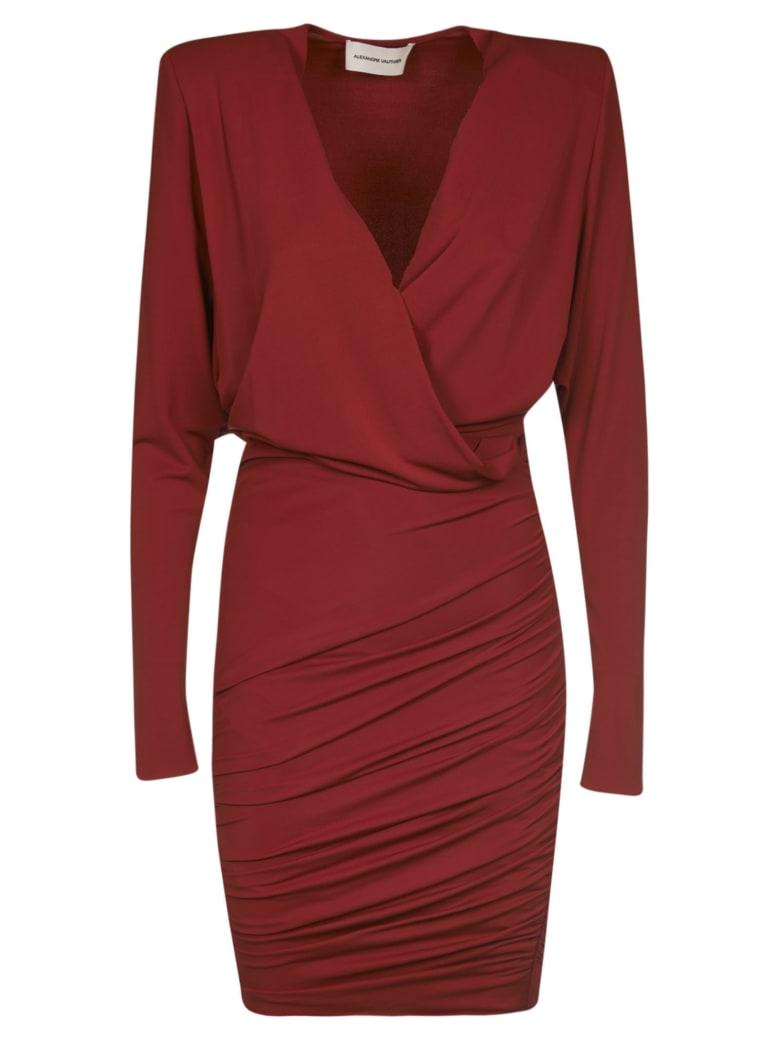 Alexandre Vauthier Slim V-neck Dress - Rosso