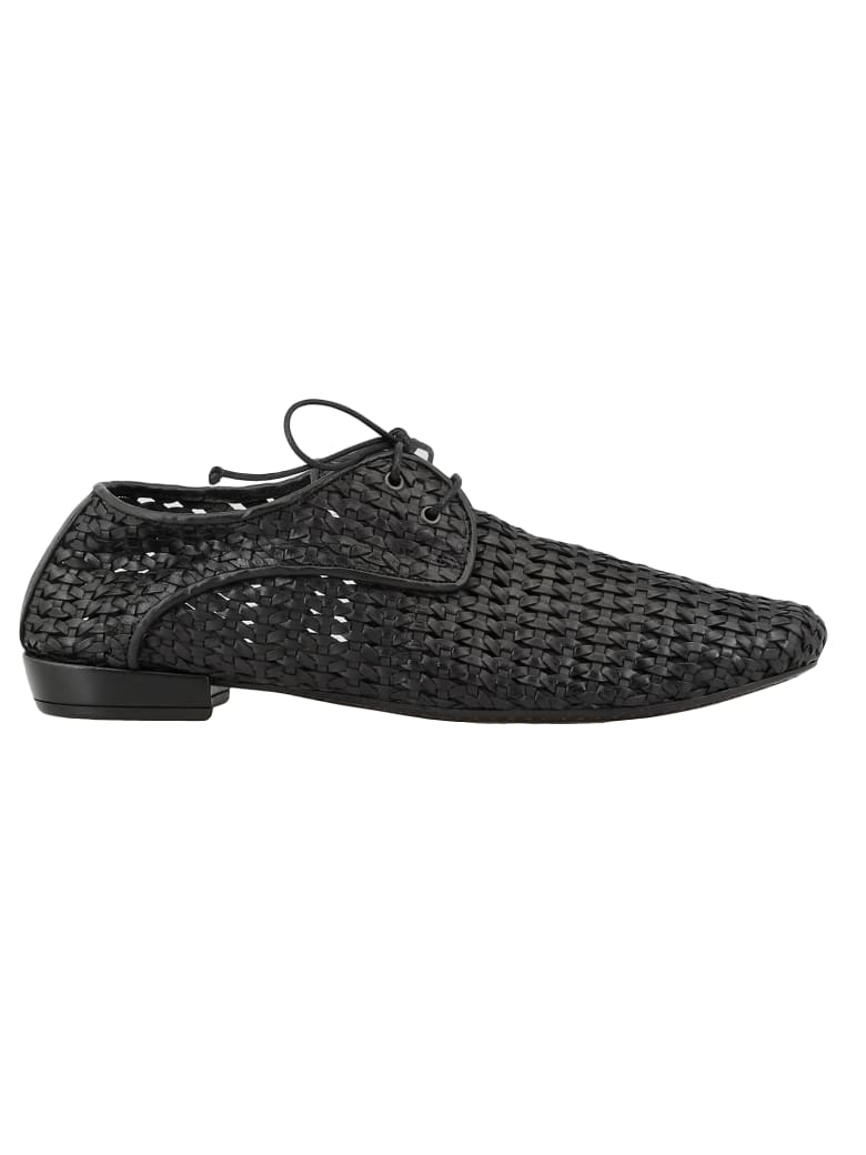 Marsell Leather Lace Up Shoes - Black