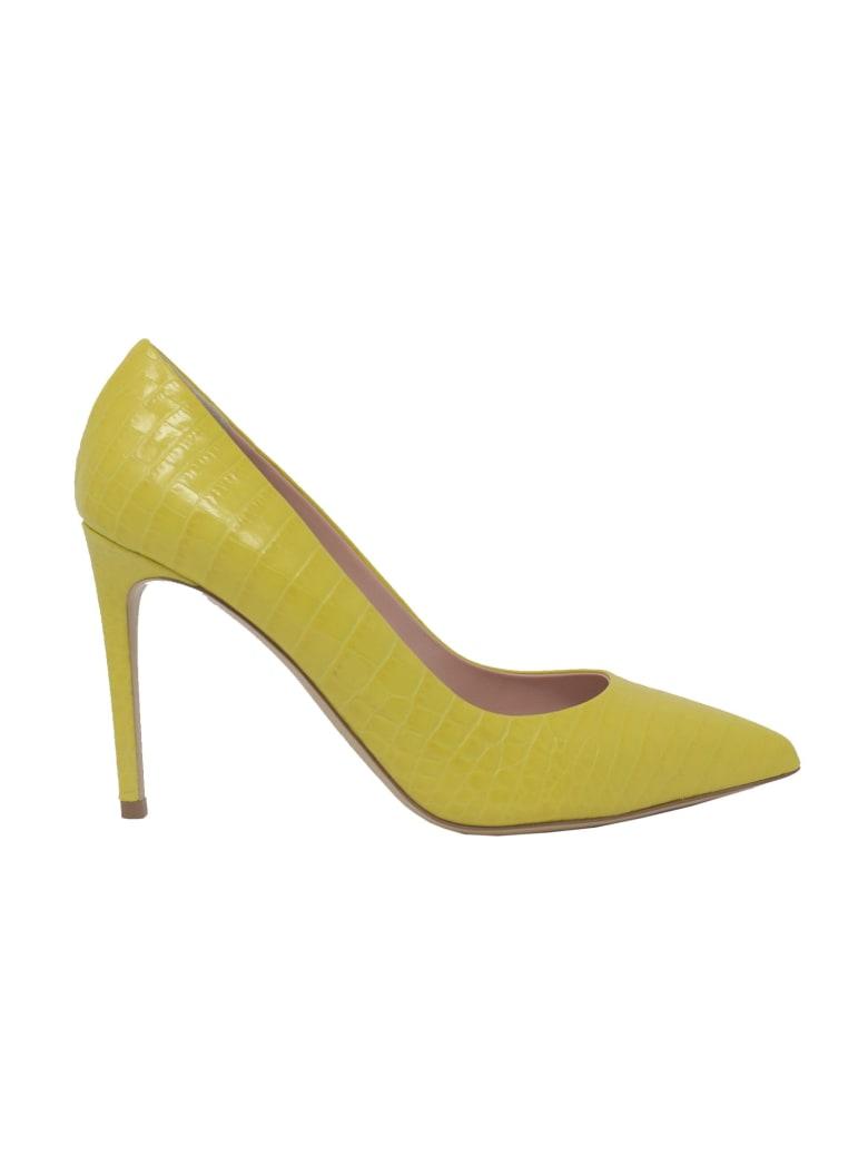 Ninalilou 301515lv Coco Print Yellow Pumps - YELLOW