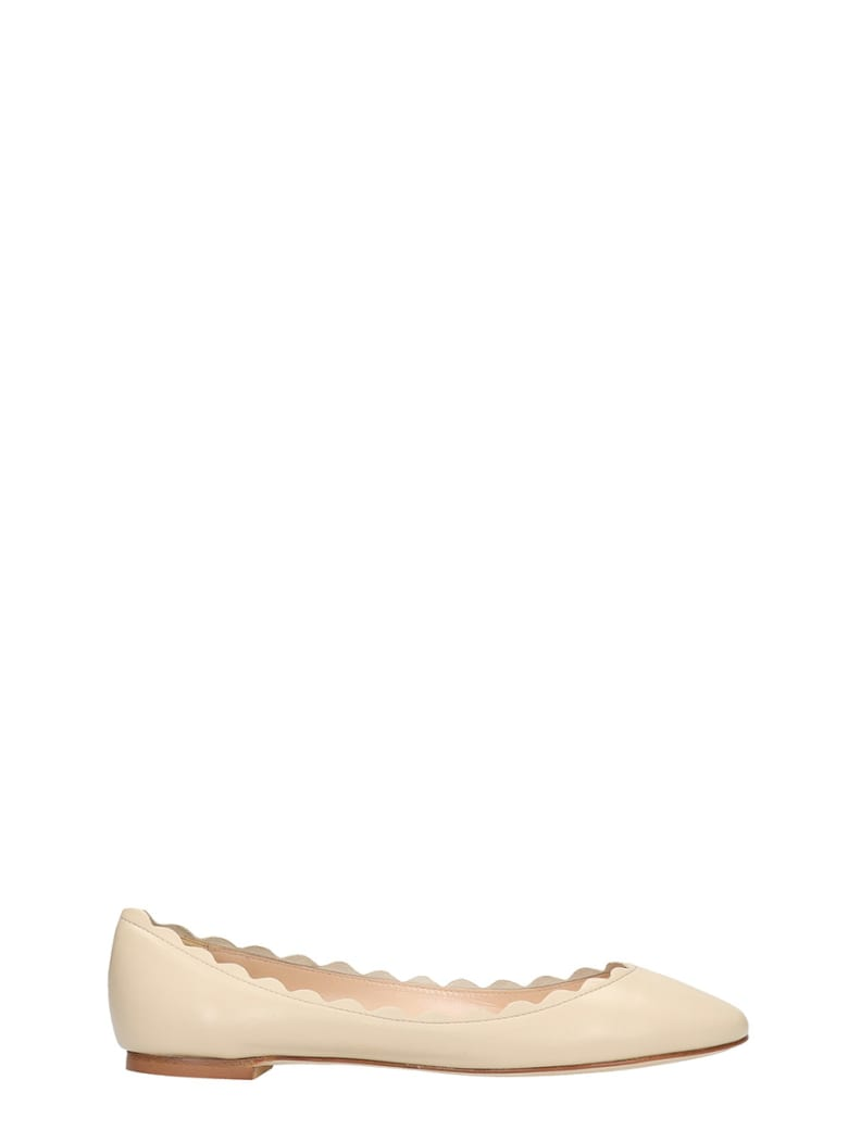 Fabio Rusconi Ballet Flats In Beige Leather - beige