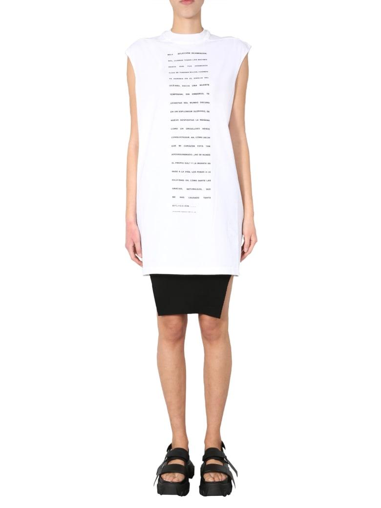 DRKSHDW Round Neck Dress - BIANCO