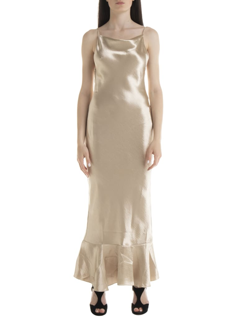 Saloni Stella Dress - Wht White Gold