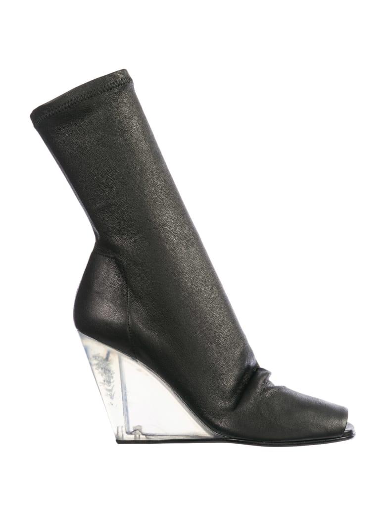 Rick Owens  Leather Heel Boots - Nero