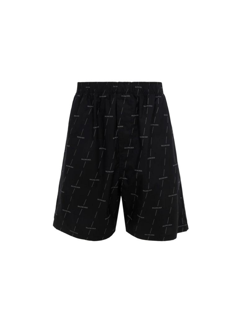Balenciaga Bermuda Shorts - Black/grey