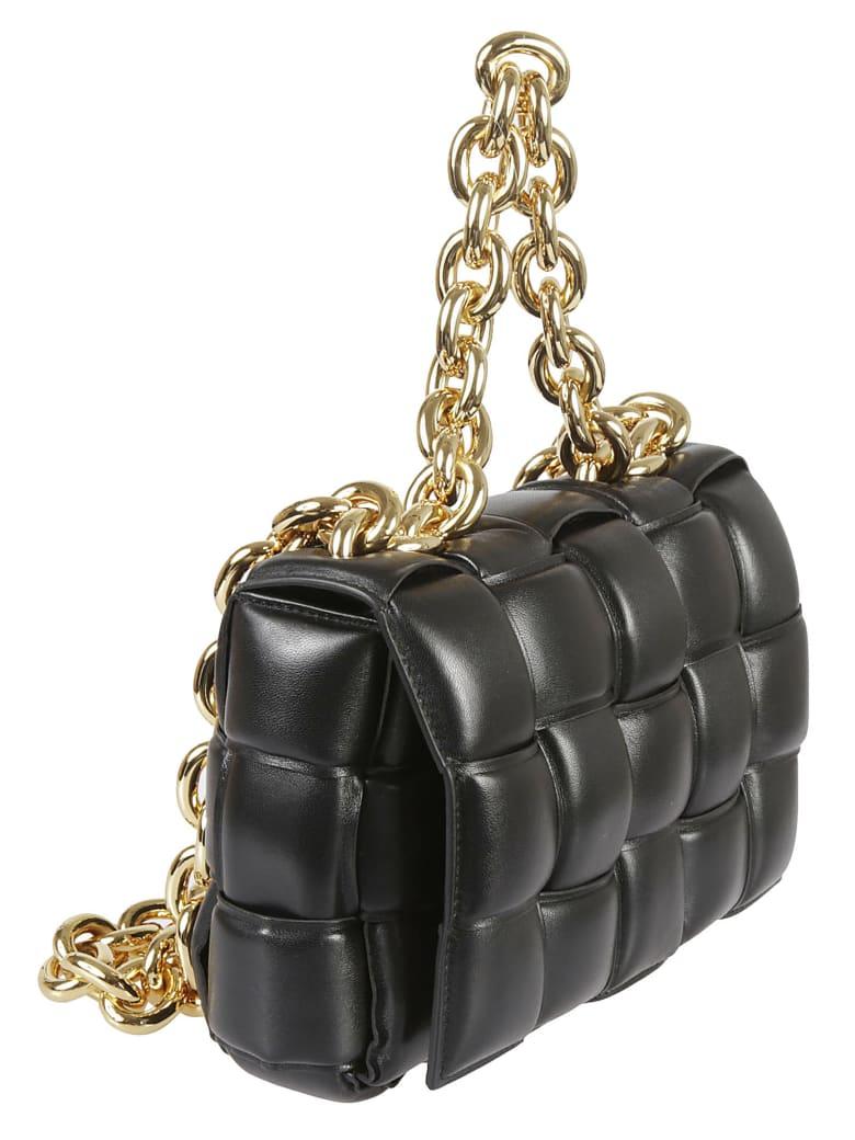 Bottega Veneta Chain Cassette Shoulder Bag - Black/Gold