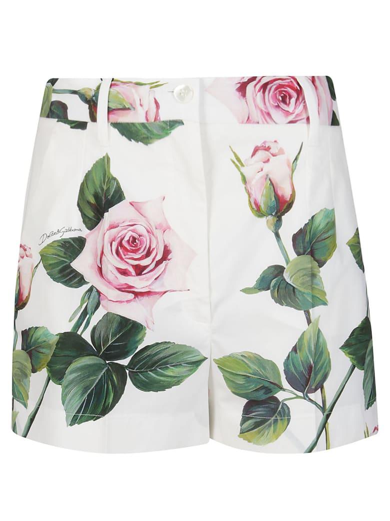 Dolce & Gabbana High Waisted Shorts - White