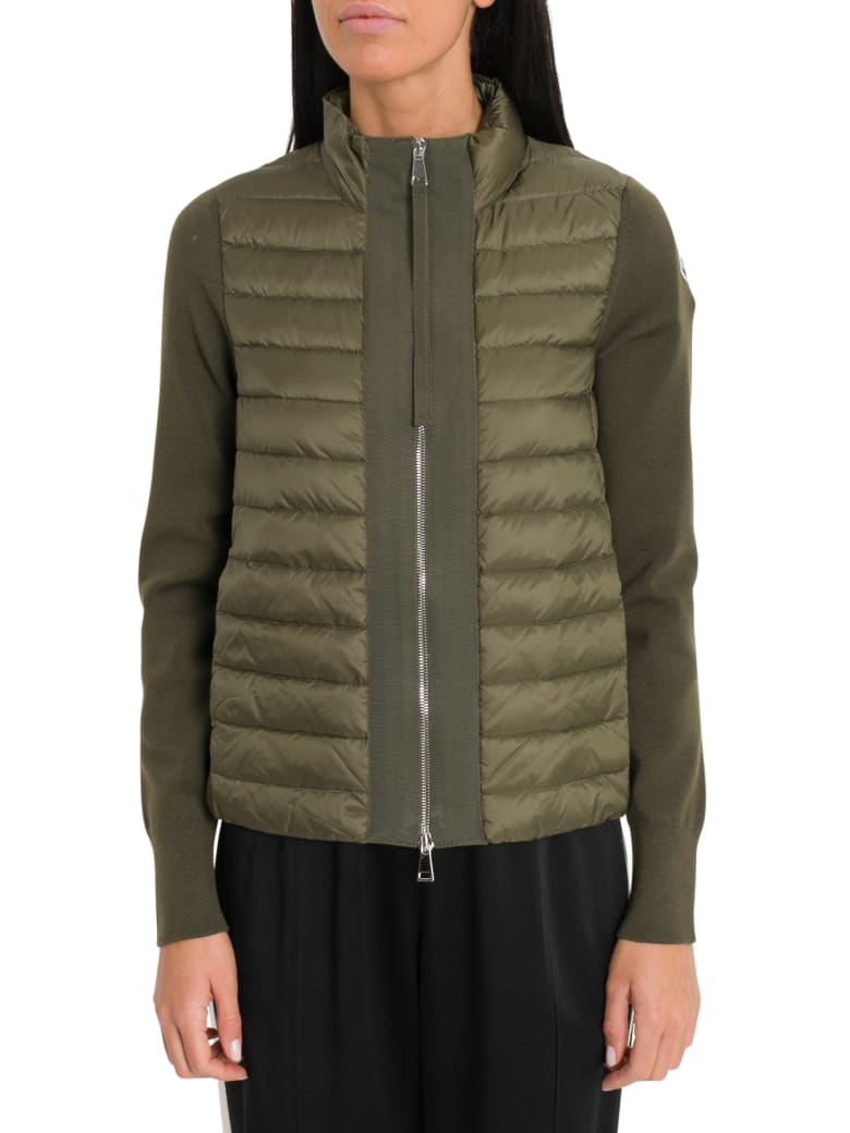 buy popular 90704 c2d6e Best price on the market at italist | Moncler Moncler Contrasting-trim  Padded Shell And Down-blend Jacket