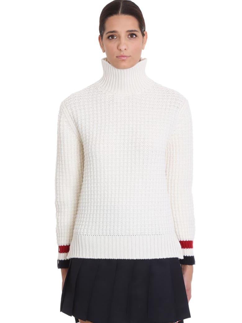 Thom Browne Knitwear In White Wool - white