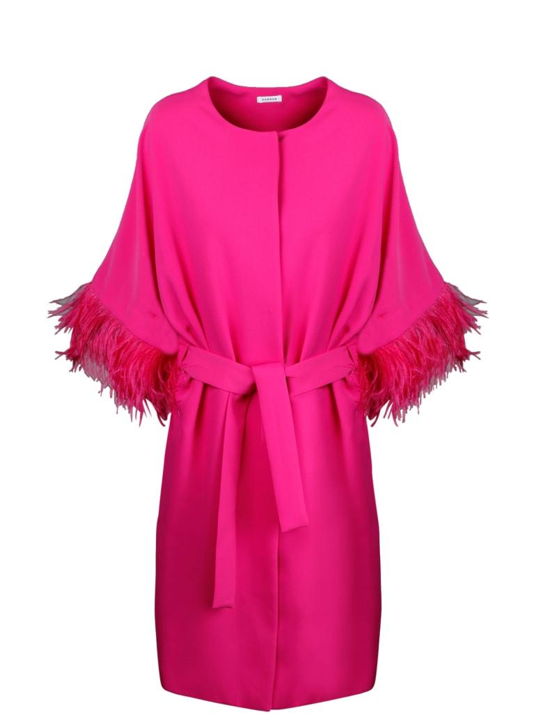 Parosh Panters Long Jacket - Pink & Purple