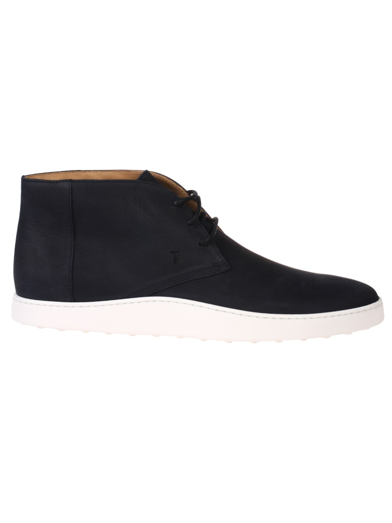 Tod's Lace-up Ankle Boots - Navy/White
