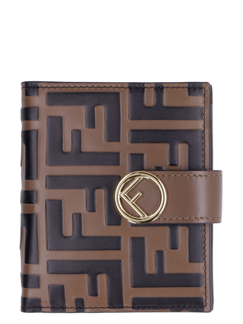 Fendi Small Leather Wallet - brown