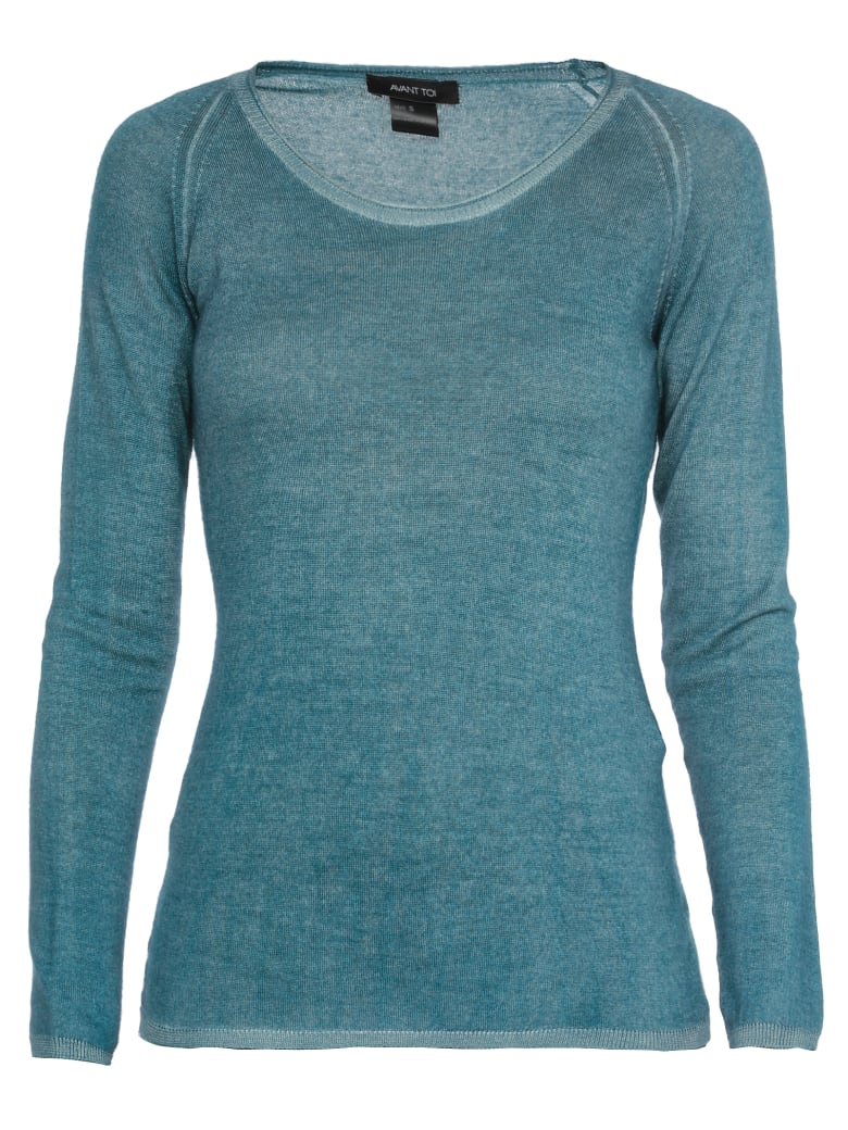 Avant Toi Cashmere And Silk Sweater - SAXONY BLUE