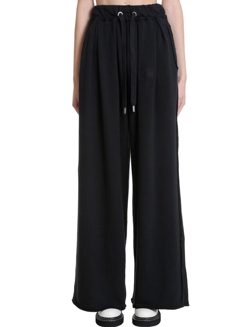 Palm Angels Pants In Black Cotton - black