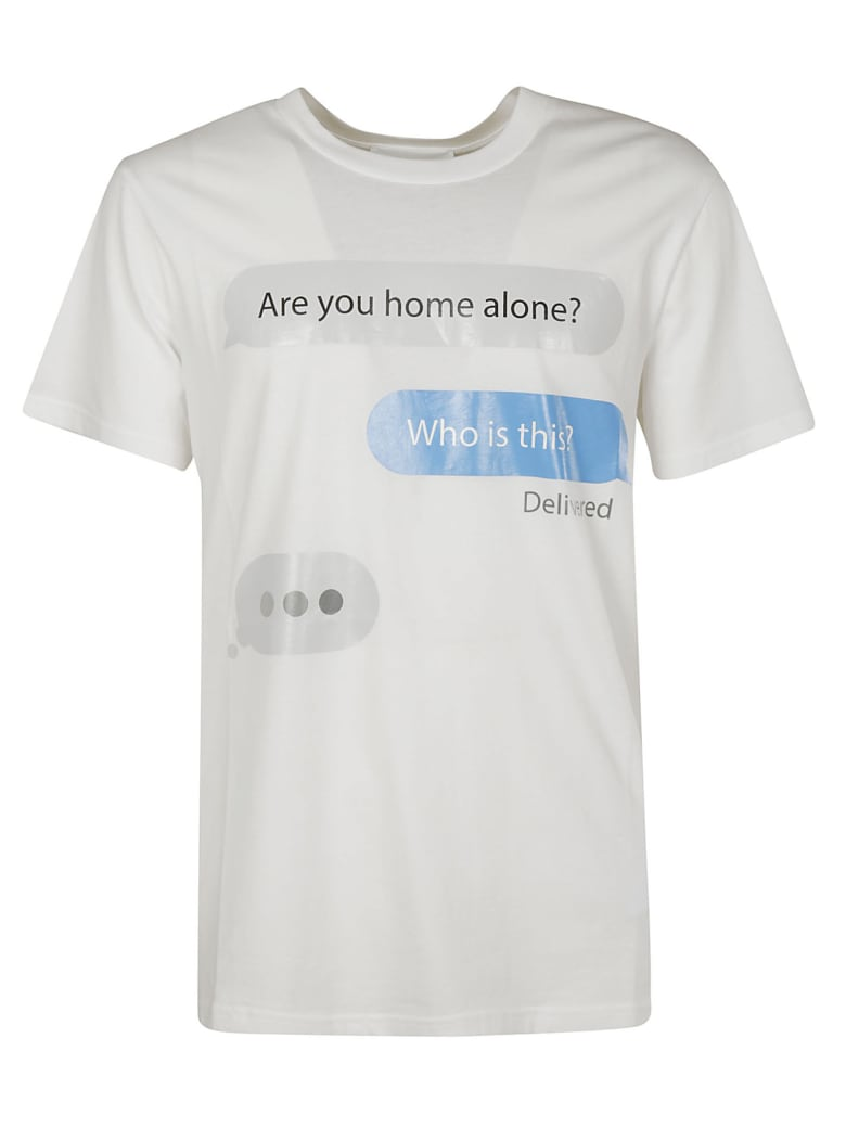 Moschino Are You Home Alone? T-shirt - white