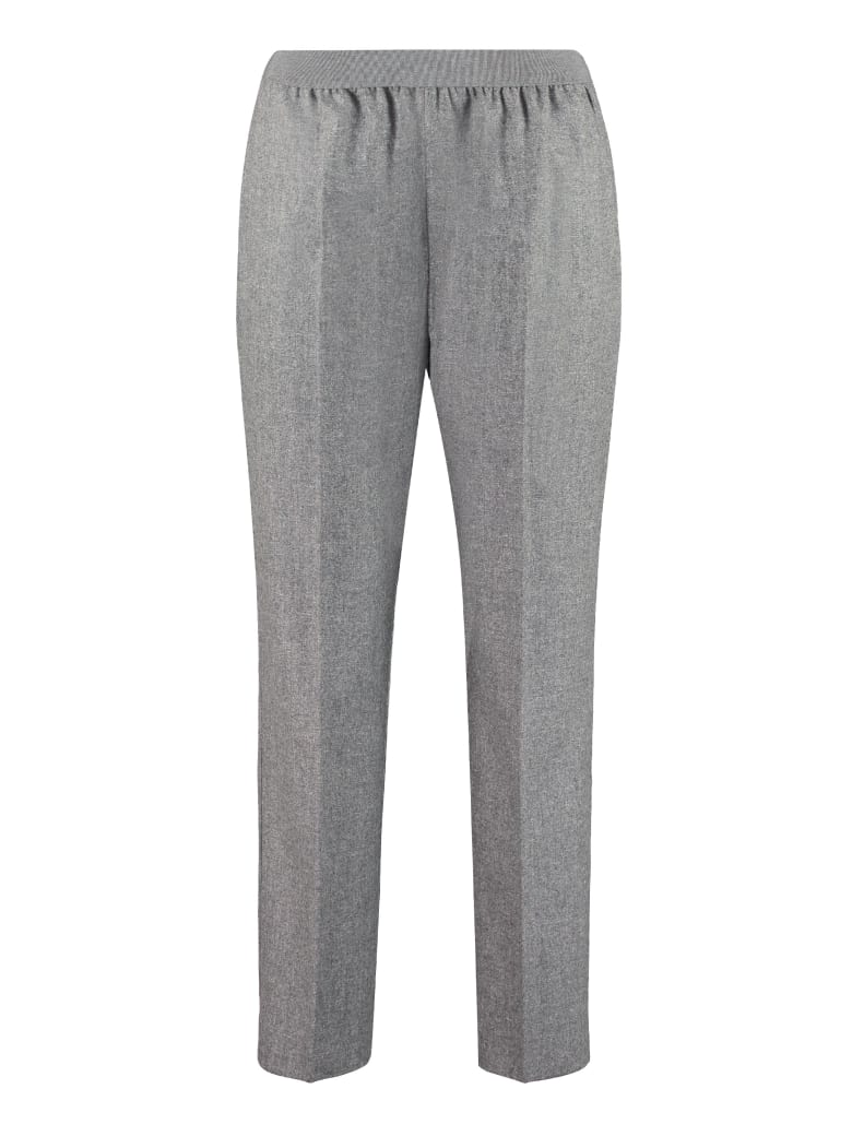 Agnona Wool And Mohair Tailored Trousers - grey