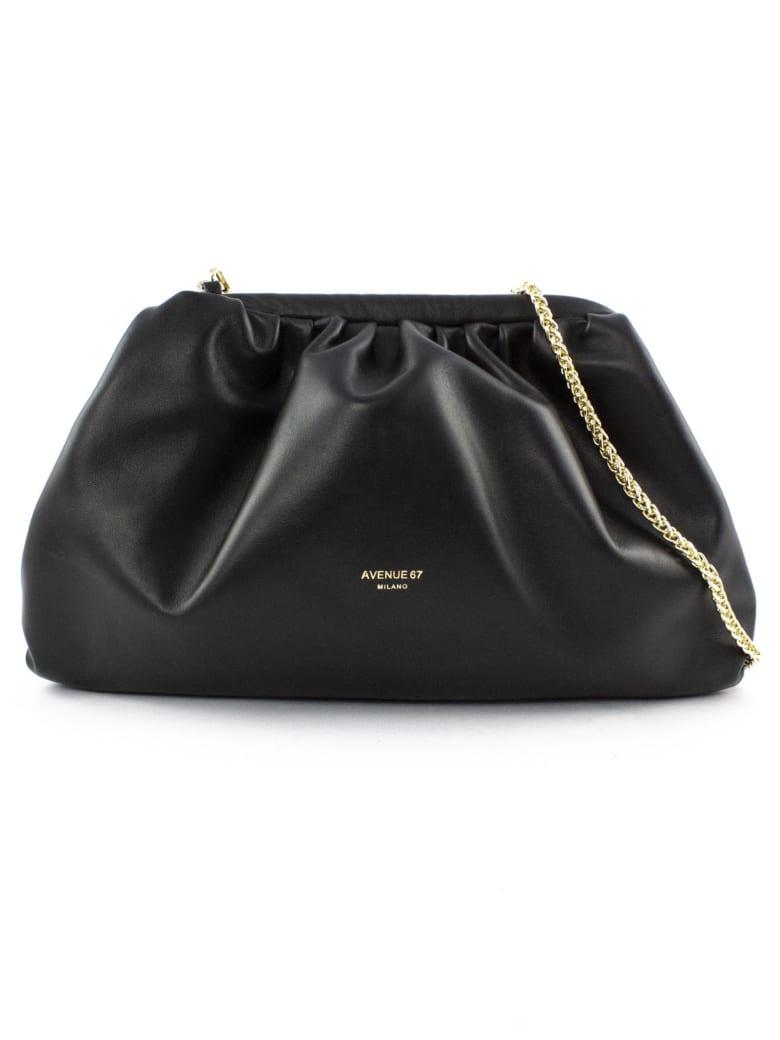 Avenue 67 Puffy Bag In Black Leather - Nero