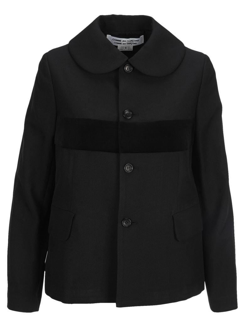 Comme des Garçons Comme des Garçons Cross Detail Jacket - BLACK