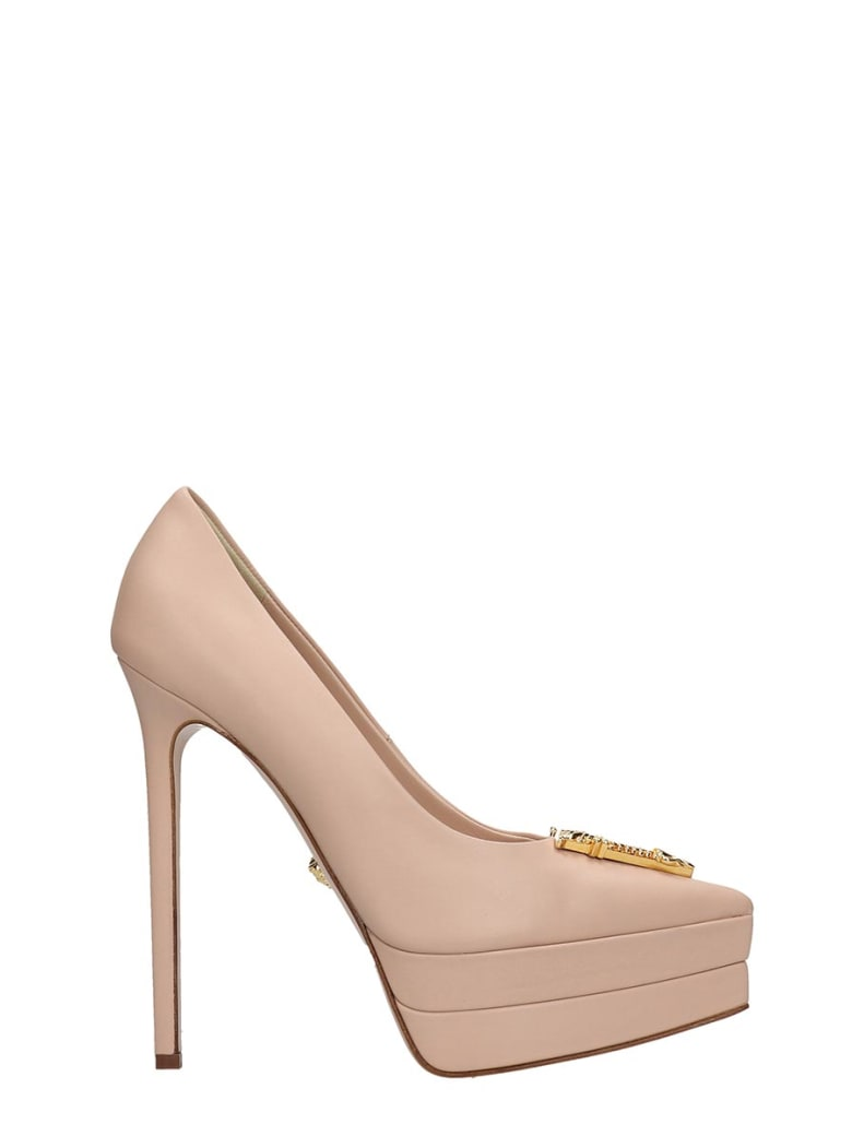 Versace Pumps In Beige Leather - beige