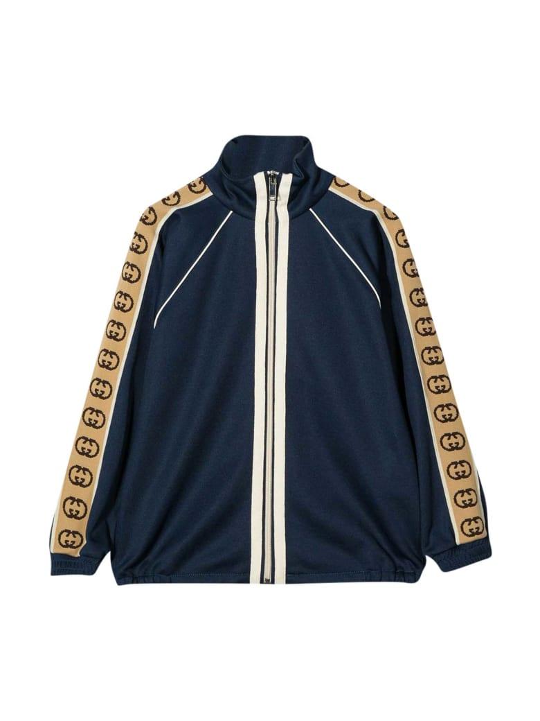 Gucci Blue Bomber Jacket - Blu