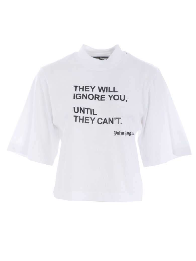 Palm Angels Short Sleeve T-Shirt - Bianco