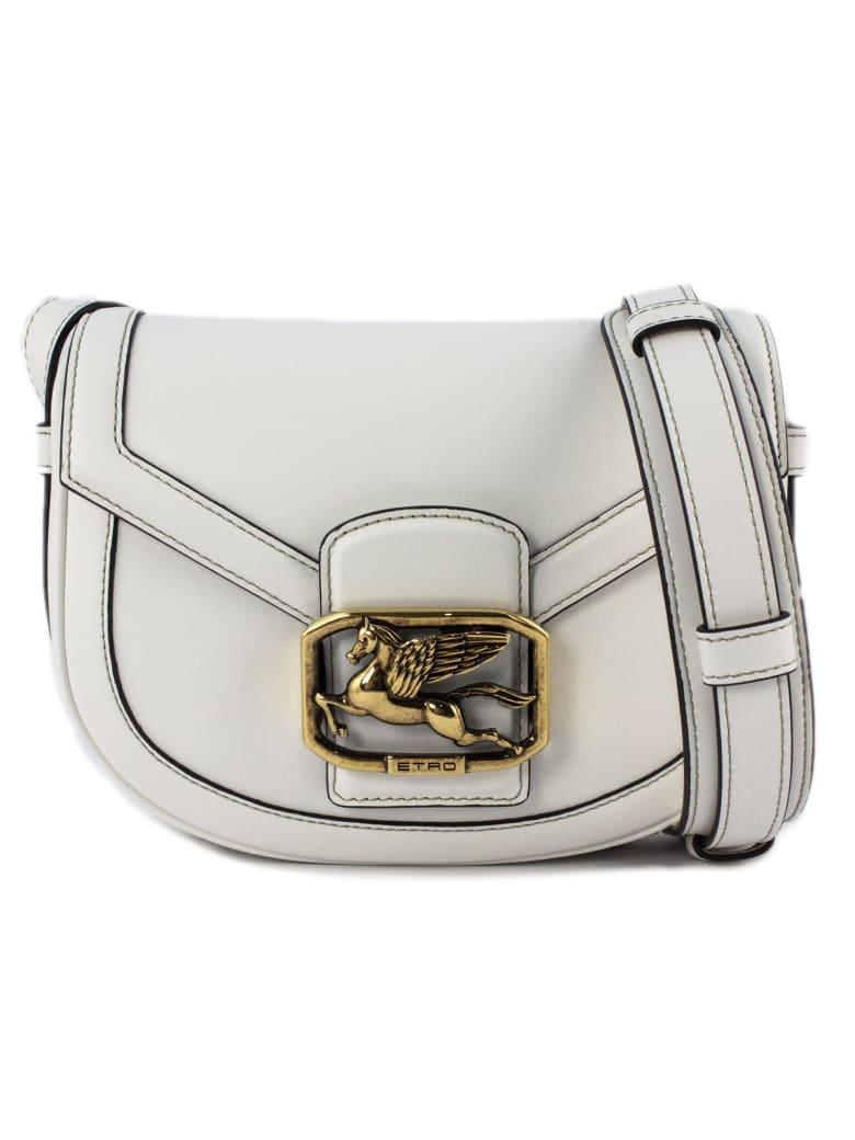 Etro Pegaso Bag In White - Bianco