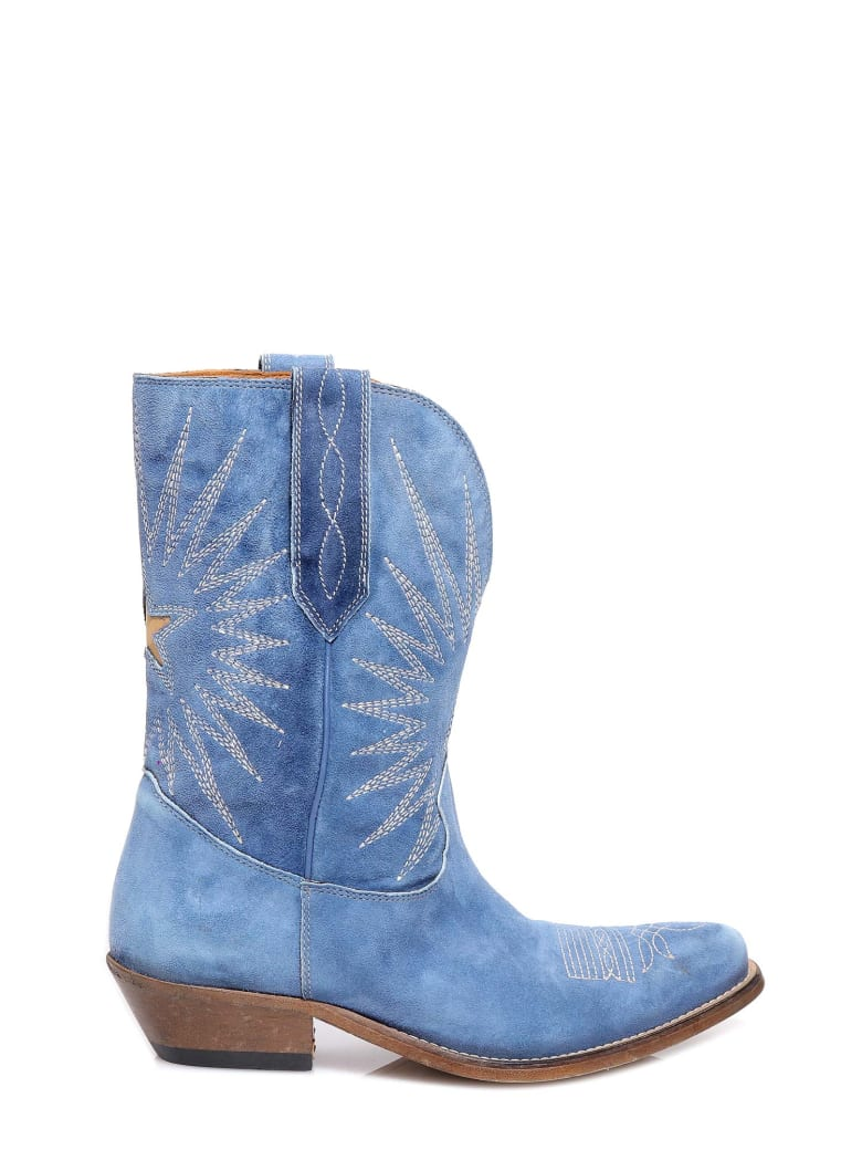 Golden Goose Wish Star Boots - Blue