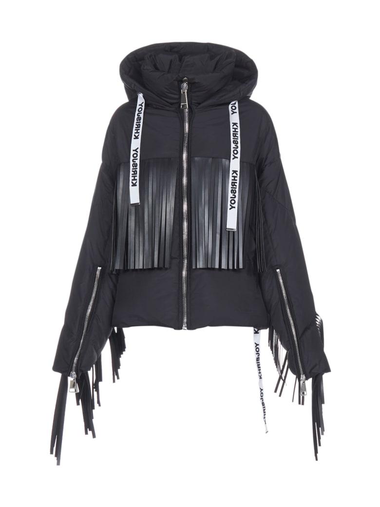 Khrisjoy Down Jacket - Black fringe