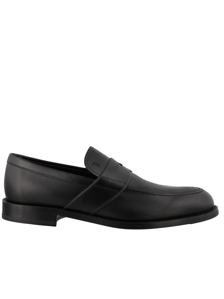 Tod's Leather Loafer - Black