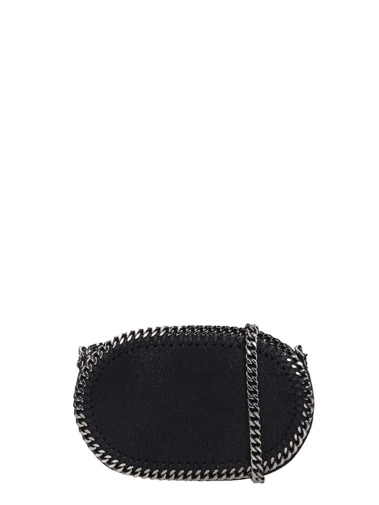 Stella McCartney Falabella Shoulder Bag In Black Faux Leather - Nero