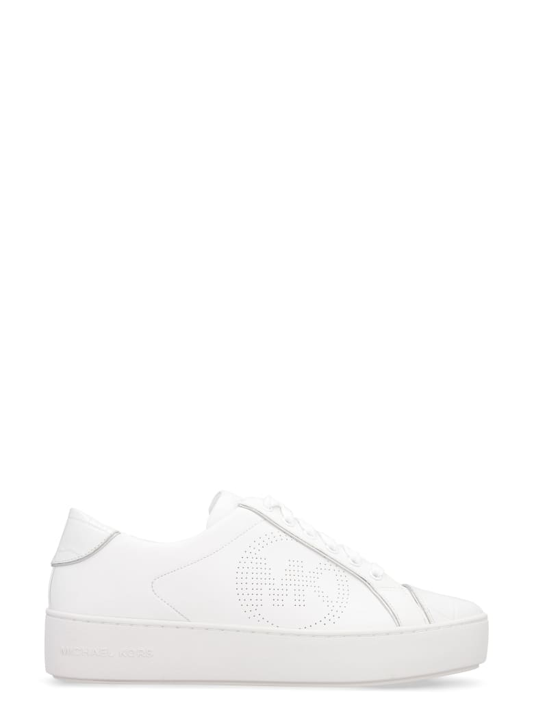 MICHAEL Michael Kors Kirby Leather Sneakers - White