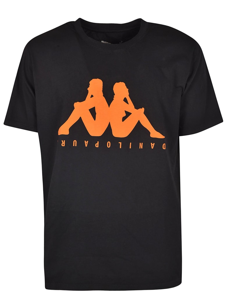 Danilo Paura Logo Print T-shirt - Black