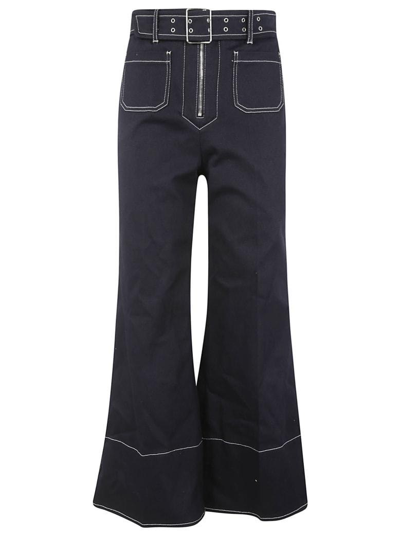Miu Miu Drill Stretch Jeans - Blu